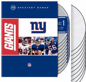 NFL: New York Giants - 10 Greatest Games (10-DVD)