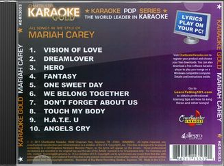 Karaoke Gold: In the Style of Mariah Carey