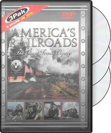 America's Railroads: The Steam Train Legacy 3-Pack