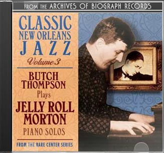 Plays Jelly Roll Morton Piano Rolls