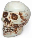 "Skull - 8"" Ceramic Cookie Jar"