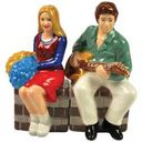 Brady Bunch - Marsha & Greg Salt & Pepper Shakers