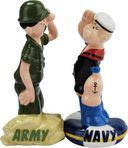 Beetle Bailey - Army Navy Salute Salt & Pepper