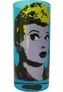 I Love Lucy - Pop Art Blue - Drinking Glass