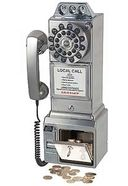 1950's Classic Pay Phone (Brushed Chrome)