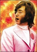 "John Lennon - Sunburst - Photo Magnet 2 1/2"" x 3"