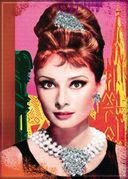 "Audrey Hepburn - Jewels - Photo Magnet 2 1/2"" x 3"