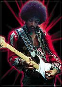"Jimi Hendrix - Red Spark - Photo Magnet 2 1/2"" x"