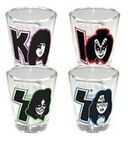 KISS - Faces - 4-Piece Shot Glass Set