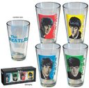 The Beatles - Retro Style: 4-Piece 16 oz. Pint