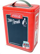 Coca-Cola - Rectangle Tin with Handle & Chalkboard