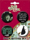 The Wizard of Oz - Wicked Witch Carded 4 Button