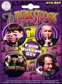 The Three Stooges - Carded 4 Button Set