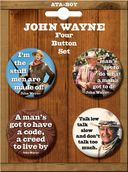 John Wayne - 4-Piece Round Button Set