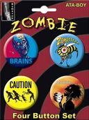 Zombies - Carded 4 Button Set