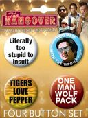 The Hangover - Carded 4 Button Set