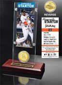 Baseball - Giancarlo Stanton Ticket & Bronze Coin
