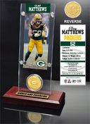 Football - Clay Matthews Ticket & Bronze Coin