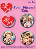 I Love Lucy - 4-Piece Round Magnet Set