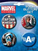 Marvel Comics - Captain America Carded 4 Button