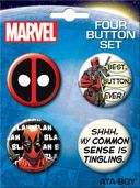 Marvel Comics - Deadpool Carded 4 Button Set