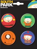 South Park - Carded 4 Button Set
