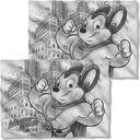 Mighty Mouse - Sketch (Front & Back) Pillow Case