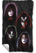 KISS - Solo Heads - Fleece Blanket