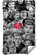 I Love Lucy - Faces - Fleece Blanket