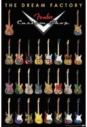 "Fender Guitars - Dream Factory - Poster (24"" x"