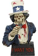 "Skull - Uncle Sam 7"" Resin Skull Figure"