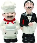 Chef & Waiter - Salt & Pepper Shakers