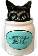 Hiding Cat - Ceramic Cookie Jar
