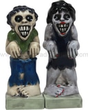 Zombies - Salt and Pepper Shakers