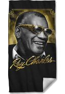 Ray Charles - Golden Glasses Beach Towel