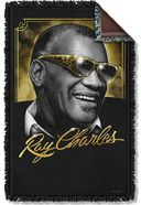 Ray Charles - Golden Glasses Woven Throw