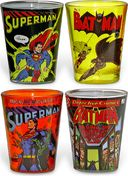 DC Comics - Batman and Superman Comic Covers 4pc