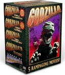 Godzilla: 5 Rampaging Movies (5-VHS)