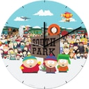 "South Park - 13.5"" Cordless Wood Wall Clock"