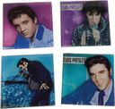 Elvis Presley - 4-Piece Glass Coaster Set