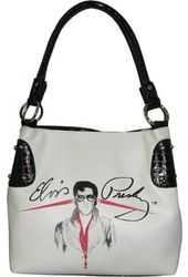 Elvis Presley - White Signature - Purse