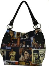 Elvis Presley - Collage Style - Hand Bag