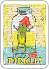 "I'm in a Real Pickle! - 7"" x 5"" Melanine Tray"