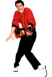 Elvis Presley - Red Sweater & Guitar Life Size