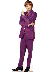 Austin Powers - Purple Stripe Suit - Cardboard