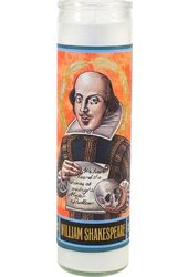 William Shakespeare Secular Saint Candle