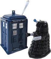 Doctor Who - Dalek & Tardis - Creamer & Sugar Bowl