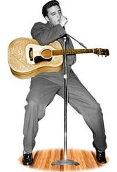 Elvis Presley - With Guitar - Life Size Standup