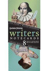 Quotable Notables - Writers Notecards (Pack of 8)