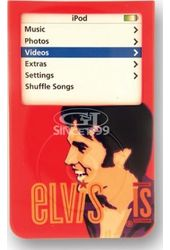 Elvis Presley - iPod Case 30 GB Black Dots Style